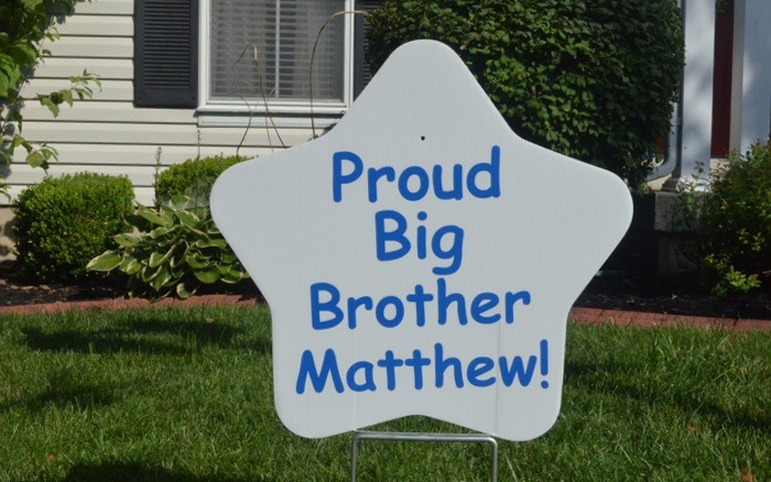 Proud Big Sibling Sign